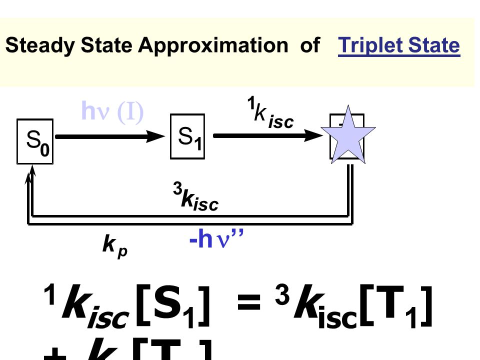 1kisc [S1] = 3kisc[T1] + kp[T1]